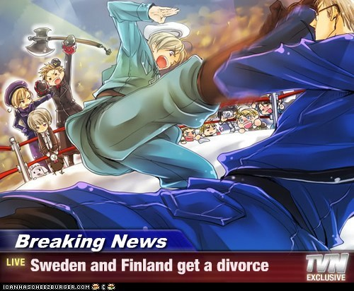 Breaking News - Sweden and Finland get a divorce