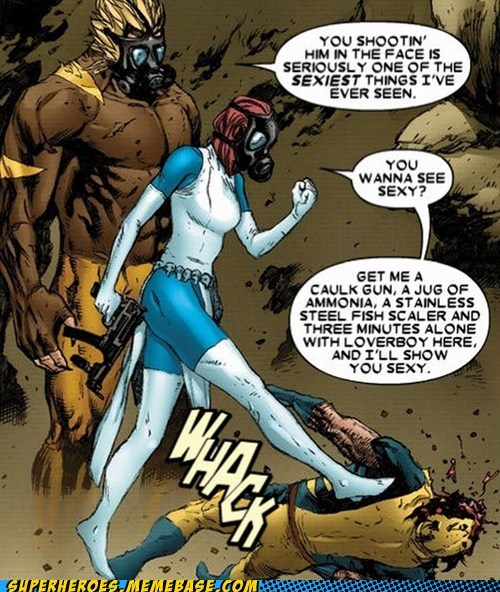 sabertooth,mystique,funny off the page,villain