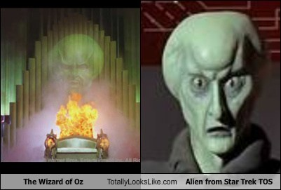 The Wizard of Oz Totally Looks Like Alien from Star Trek TOS