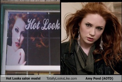 Hot Looks salon model Totally Looks Like Amy Pond (AOTD)