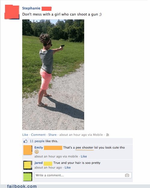 Please Don't Post Photos of Your Pee Shooter on Facebook