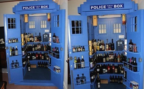 liquor cabinet,tardis,doctor who,funny,after 12,g rated