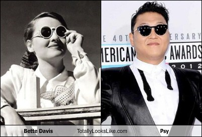 Bette Davis Totally Looks Like Psy