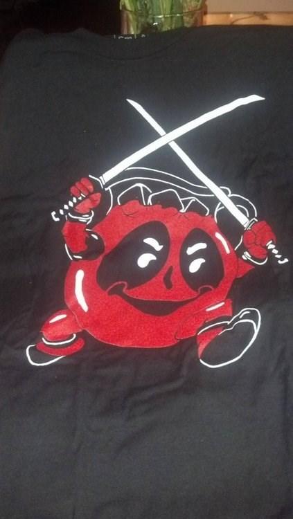 wtf,deadpool,kool-aid man,T.Shirt,funny