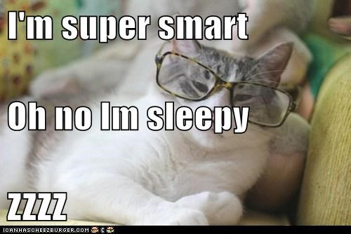 I'm super smart Oh no Im sleepy ZZZZ