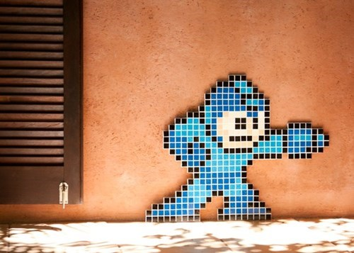 nerdgasm,mega man,mosaic,video games,funny
