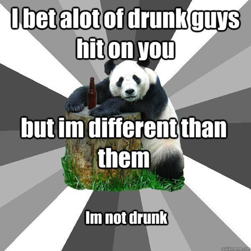 drunk panda,pick-up lines,funny,after 12