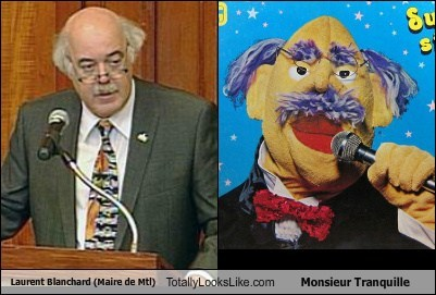 Laurent Blanchard (Maire de Mtl) Totally Looks Like Monsieur Tranquille