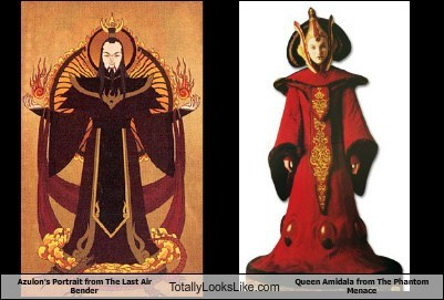 Azulon's Portrait from The Last Air Bender Totally Looks Like Queen Amidala from The Phantom Menace