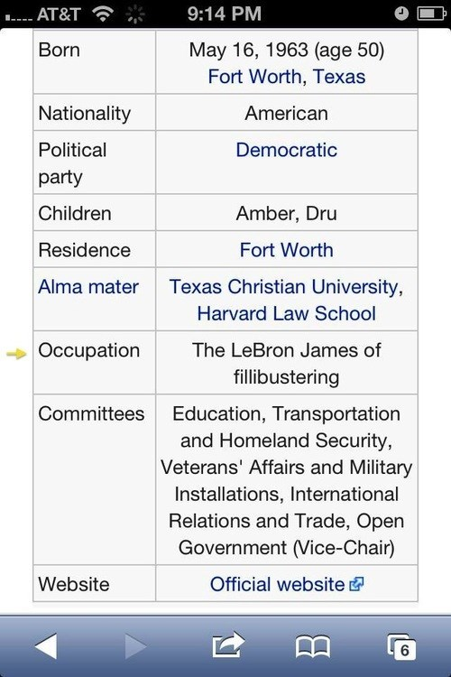 It Was Only a Matter of Time Before Wendy Davis' Wikipedia Page Got Edited