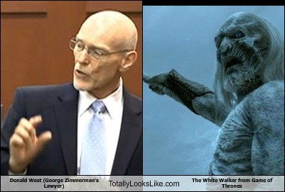 Donald West (George Zimmerman's Lawyer) Totally Looks Like The White Walker from Game of Thrones