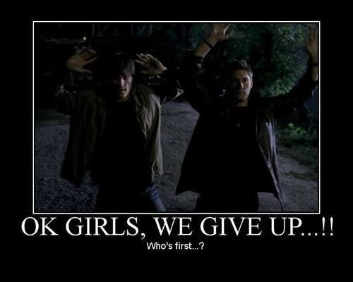 Supernatural,winchester brothers,fangirls