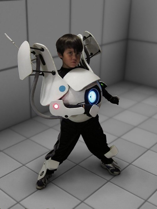 cosplay,atlas,kids,cute,video games,portal 2