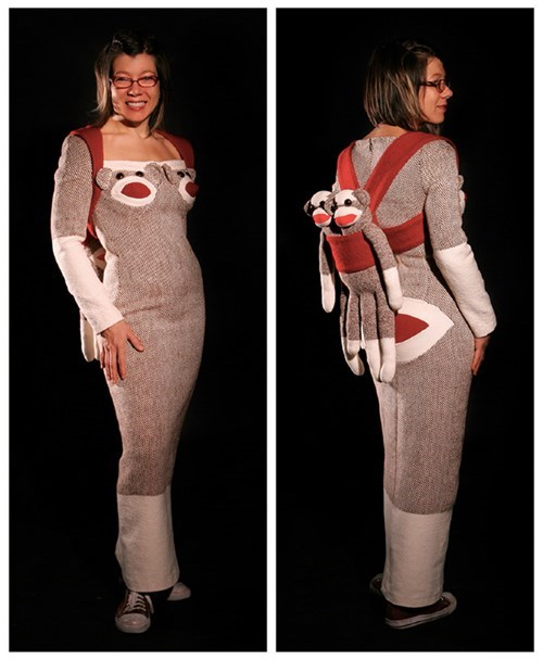 That Sock Monkey Really Hugs Her Curves