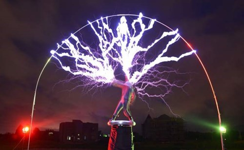 What's More Metal Than Playing Guitar Under a Tesla Coil?