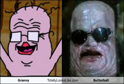 granny,butterball,totally looks like,funny