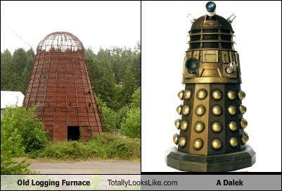 Old Logging Furnace Totally Looks Like A Dalek