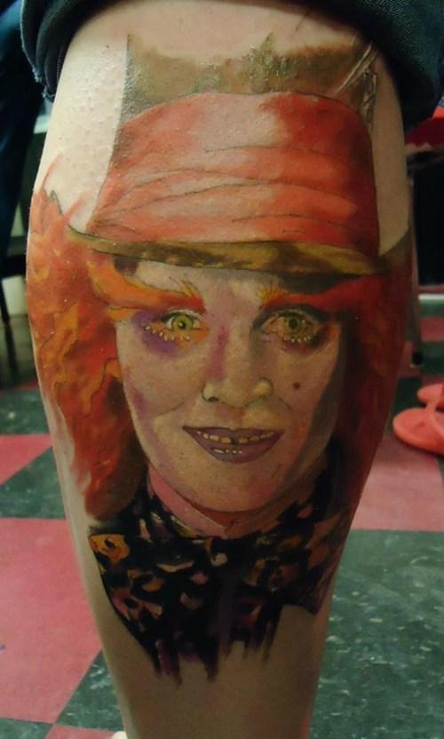 mad hatter,tattoos,Johnny Depp,funny