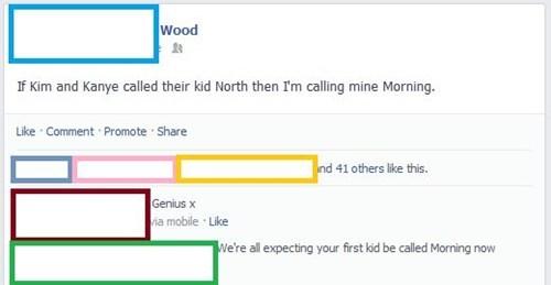 baby names,morning wood,kanye west,north west
