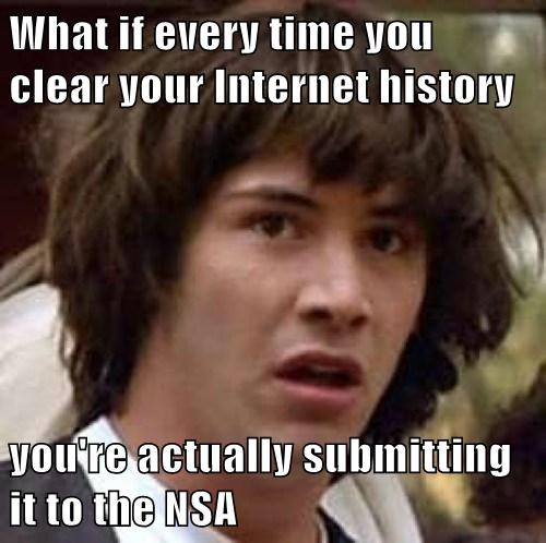 What if every time you clear your Internet history  you're actually submitting it to the NSA