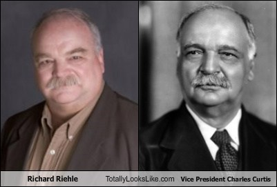 Richard Riehle Totally Looks Like Vice President Charles Curtis