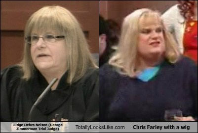 Judge Debra Nelson Totally Looks Like Chris Farley with a wig