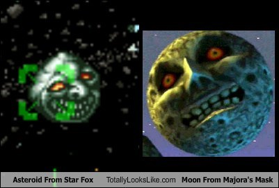 Asteroid From Star Fox Totally Looks Like Moon From Majora's Mask