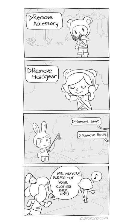 Kinda Sad That This Isn't an Option in Animal Crossing