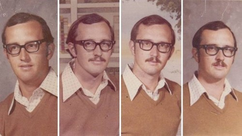 Swag of the Day: P.E. Teacher Wears Same Outfit in Four Decades of Yearbook Photos