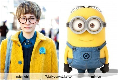minions,azns,totally looks like,girls,funny