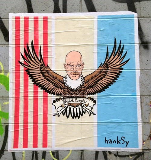 "Hanksy Gets Patriotic With ""Bald Eagles"""