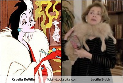 cruella deville,totally looks like,lucille bluth,funny