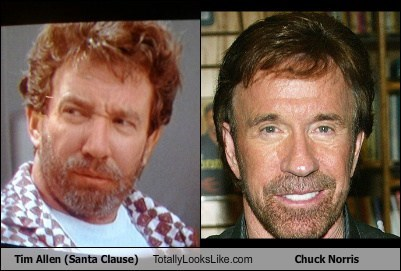 Tim Allen in The Santa Clause Totally Looks Like Chuck Norris