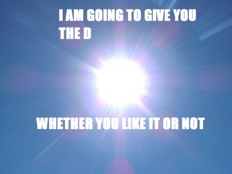 Shining Down the Vitamin D
