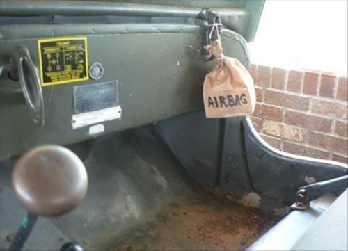 airbags,cars,perfectly safe,funny,g rated,there I fixed it