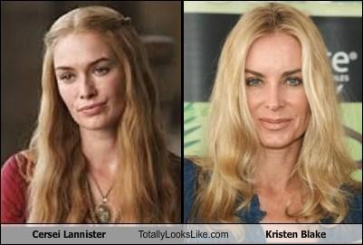 kristen blake,totally looks like,cersei lannister,funny