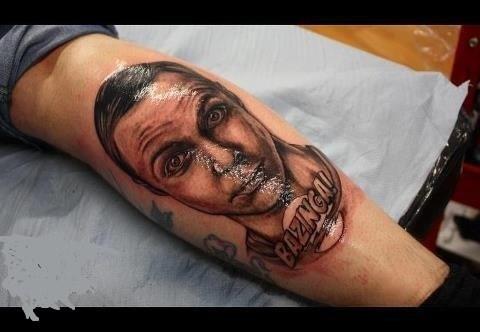 Sheldon Cooper,big bang theory,tattoos,bazinga,funny,g rated,Ugliest Tattoos