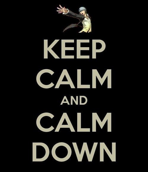atlus,Video Game Coverage,persona,keep calm