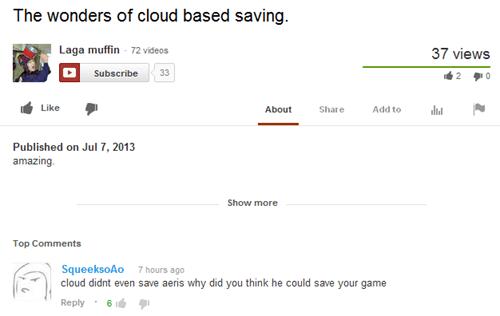 final fantasy,youtube,aeris,cloud,final fantasy VII