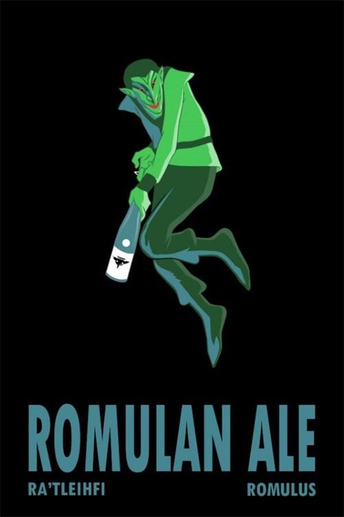 art,green fairy,romulan ale,Star Trek,funny
