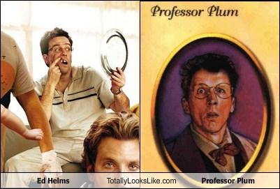 ed helms,totally looks like,professor plum,funny