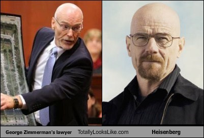 breaking bad,Walt,heisenberg,George Zimmerman,totally looks like,Lawyers,funny