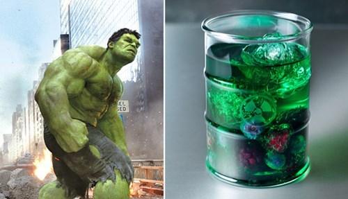 superheroes,hulk,funny,cocktail