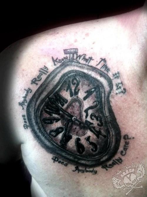 melting,clocks,tattoos,funny