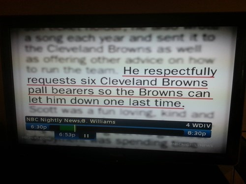 zing,cleveland browns,obituary,funny
