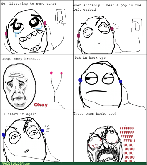 Crappy earbuds rage!