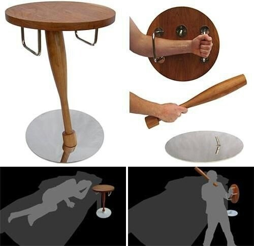 instant weapons,end tables,bad assery,funny