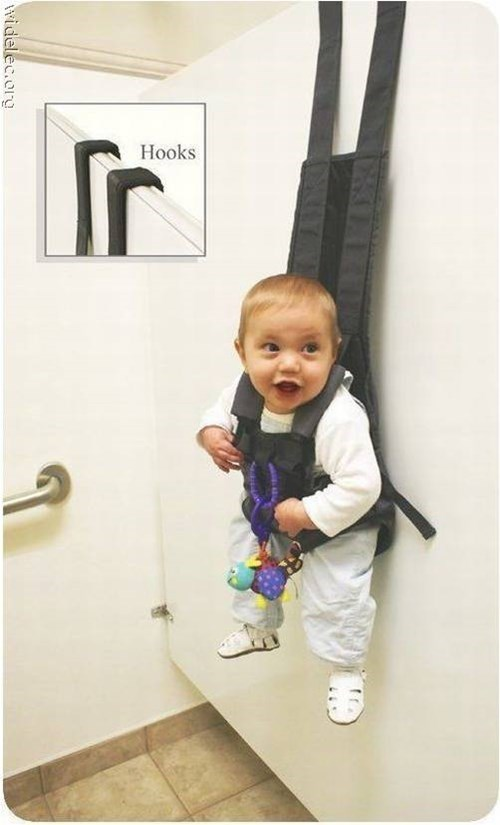 Hang Your Baby on a Restroom Stall!