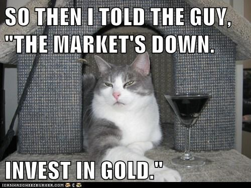 "SO THEN I TOLD THE GUY, ""THE MARKET'S DOWN.  INVEST IN GOLD."""
