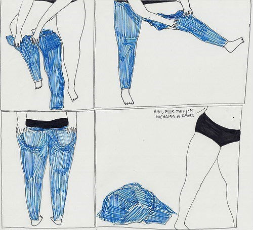 jeans,those days,skirt,poorly dressed,g rated